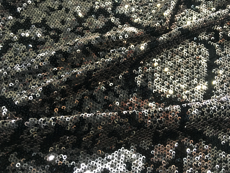 Nylon Mesh Sequin Embroidery Fabric