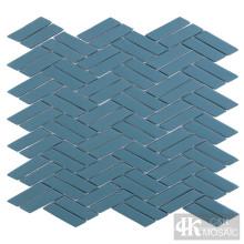 Azulejo de mosaico de vidro turquesa para cozinha