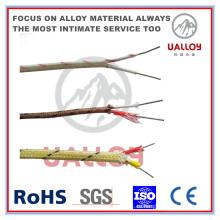 Cable de compensación de termopar aislado con fibra de cerámica tipo J