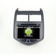 Quad core!car dvd with mirror link/DVR/TPMS/OBD2 for 8 inch touch screen quad core 4.4 Android system CHEVROLET AVEO