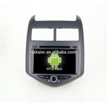 Quad core! Dvd do carro com link espelho / DVR / TPMS / OBD2 para 8 polegada tela sensível ao toque quad core 4.4 sistema Android CHEVROLET AVEO