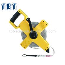 ABS CASE OEM TBT survey Fita de medição de fibra de vidro Fita de medição longa de fibra de vidro Fita métrica 30m, 50m