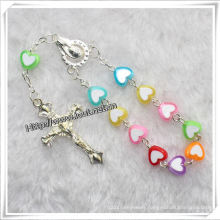 New Arrival Decade Catholic Rosary Bracelets with Metal Cross (IO-CE066)