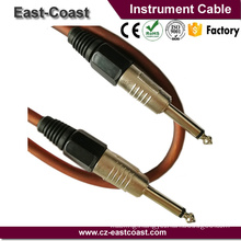 High Quality Instrument guitar Cable 6.35mm To 6.35mm Mono cable