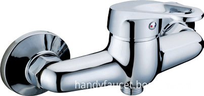 Single lever shower mixing valve