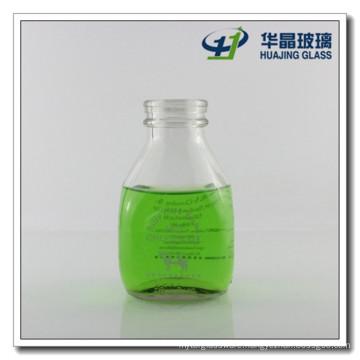 16oz Fancy Glass Juice Bottle Glass Milk Bottle with Tamper Proof Cap