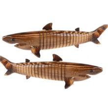 FQ marque classique jeu classique à la main des garçons requin en bois jouet animal en bas âge