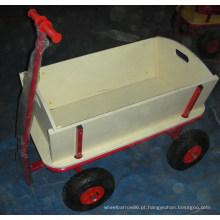 Carrinho de ferramentas. Carrinho dobrável, carrinho de madeira, carrinho para kiding, carrinho de jardim