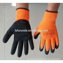 FURUNDA wrinkle finish latex coated work gloves acrylic winter working gloves