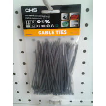 100PCS Black Cable Ties Nylon PA66