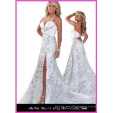 Halter Stones Chiffon White Party Dresses RO11-09
