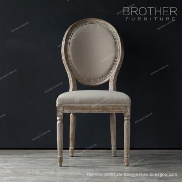 Luxus Esszimmer Möbel Runde zurück Eichenholz Design Französisch klassischen Esszimmerstuhl
