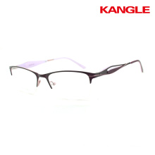 New arrival quality super light lady style thin stainless steel glasses frame