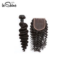 FREE Logo Natural Unprocessed Virgin Cuticle Aligned Human Hair Weave Bundles Factory Direct Whole sale