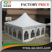 outdoor high quality luxury hexagon pagoda tent with PVC window for party and event
