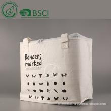 Reusable custom bamboo nonwoven cooler bag