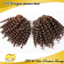 Grau 5A cabelo humano brasileiro de trama espiral cor onda # 33