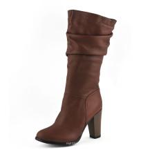 Bottes au genou à la mode au talon moyen (HCY02-1743)