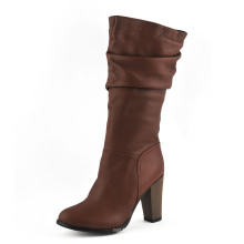 Fashion MID Heel Women Knee Boots (HCY02-1743)