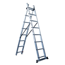 Teleskopleiter Leitungs- und Industrieleiter Typ 3 Aluminium Verlängerungsleiter