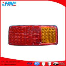 Luz vermelha da cauda do caminhão do diodo emissor de luz do Ambar 24V com 60