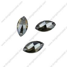 Großhandel 9 * 18mm Navette Nähen auf Steinen für Kleid