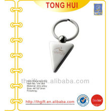 Silver Sharp corners shape key chain/key rings for promotion gifts