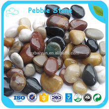 Colorful Unpolished Flat Natural River Pebbles Stone