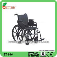 Chaise roulante en acier manuelle