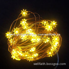 Yellow Octangle-shaped Christmas Swag Light, Decoration, 6-24V Voltage