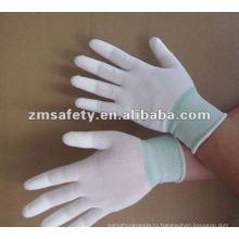 Безворсовой ОУР PU Топ Fit перчатки/чистых помещений перчатки