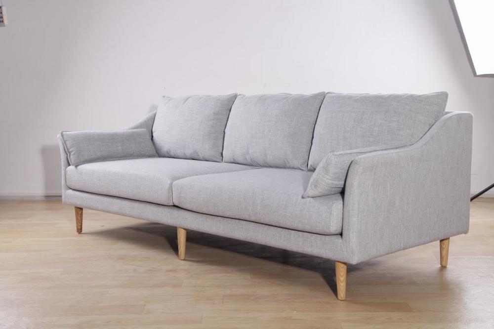3 Seats Modern Sofa In Fabric