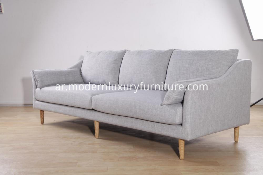 3 Seats Modern Sofa In Fabric