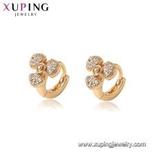 96887 xuping medioambiental cobre chapado en oro mujer fan pendientes