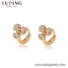 96887 xuping environmental copper gold plated women fan earrings