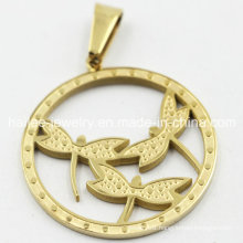Fashion Stainless Steel Dragonfly Pendant for Decoration
