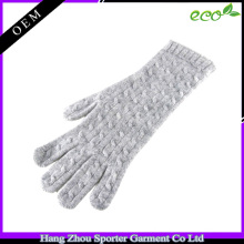 16FZCG05 cable knit glove women imitation cashmere wool glove