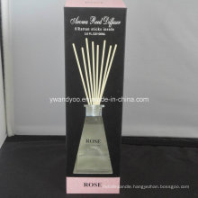 8 Rattan Sticks Rose Reed Diffuser in Glass Bottle