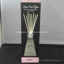 8 ротанг палочек розовый Отражетель Reed в стеклянной бутылке