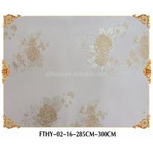 Papel pintado de pared de Feitex Textile Papel pintado de Jacquard transparente de alta calidad de la cubierta de la pared