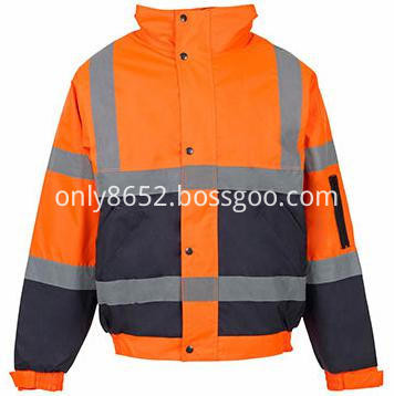 Warm waterproof reflective jackets
