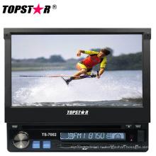 Один DIN 7-дюймовый выдвижной экран автомобиля DVD-плеер