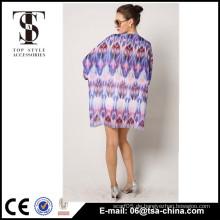 Damen-Fashion Tops, neueste Design Dolman Graphicx Chiffon Damenmode Bluse Am beliebtesten