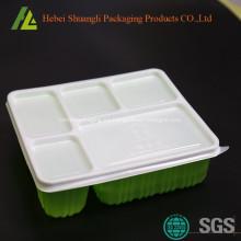 Recipientes de comida desechables de plástico aptos para microondas