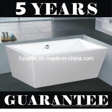 Прямоугольная форма Чистая акриловая автономная ванна (LT-JF-8066)