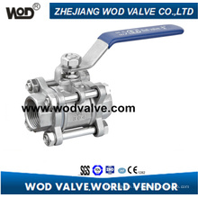 Three Pieces Ball Valve with Thread End (3PC)
