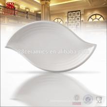 Abendessensatz bildete in Porzellanweiß-Bone China-Platte
