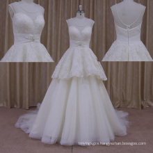 Personal Tailor′s Sexy Trumpet Wedding Dress Wear See Through Back