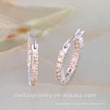 Boucles d'oreilles créoles en or bangkok Thaïlande bijoux nickel et plomb boucle d'oreille compliant bijoux