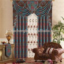 Jacquard motorizado chenille cortinas hechas para sala de estar